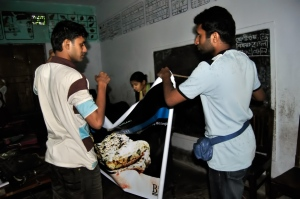 Pavel bhai (left) and N (right) working