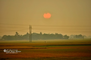 Sunset at Madbpur, Habiganj
