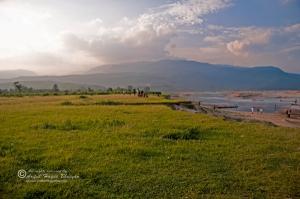 Meghalaya hills from Bhulagonj