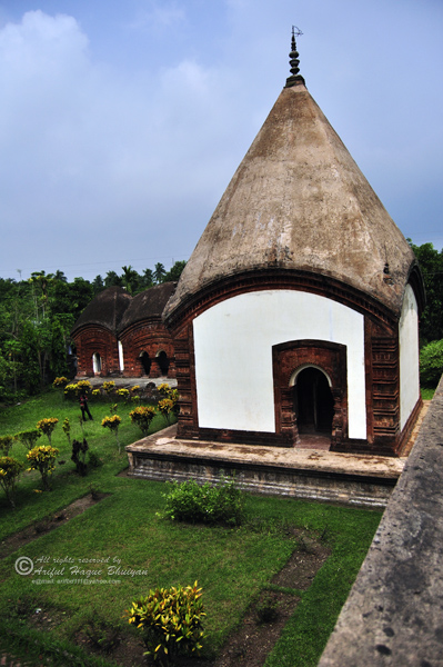 Temples from top view